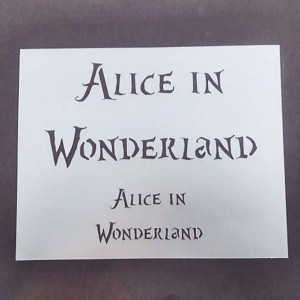 Szablon Alice in Wonderland 20x25 cm