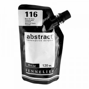 Farba akryl abstract 116 Titanium White 120ml