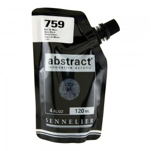 Farba akryl abstract 759 Mars Black 120ml